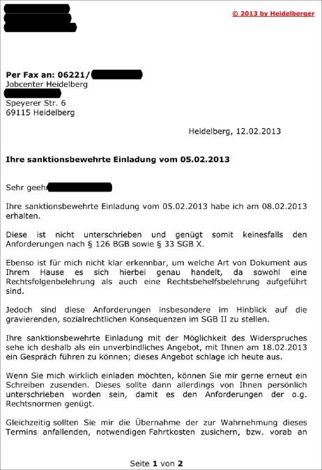 ©Doc 4a von 11 Ihre sanktionsbewehrte Einladung